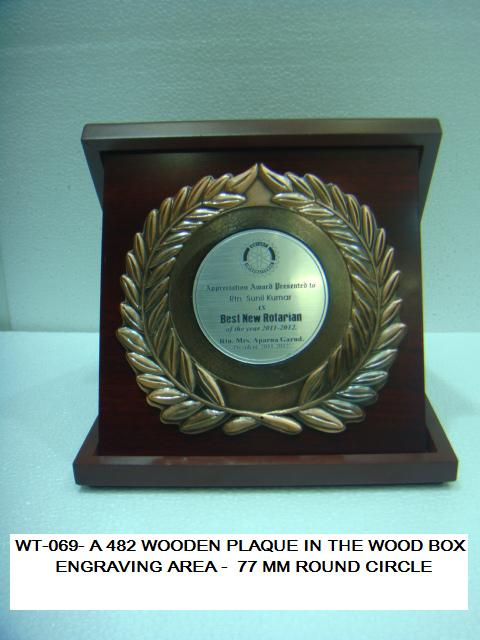 WT-069-A-482-PLAQUE WOOD